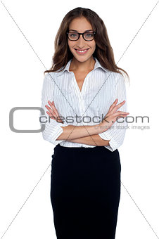 Portrait of young gorgeous corporate woman