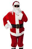 Stylish Santa Claus portrait on white background