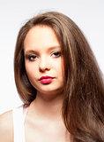 Beautiful Teenage Girl with Long Brown Hair