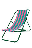 Fully editable vector illustration of a deckchair