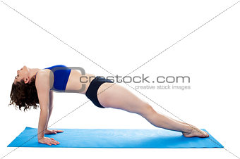 Attractive woman excerising