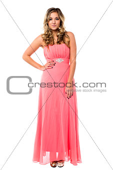 Beautiful young female in party wear