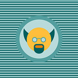 Scientist color flat icon