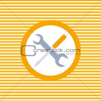Auto service color flat icon
