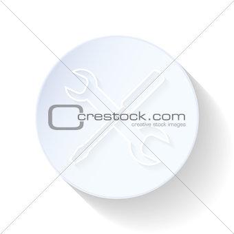 Auto service thin lines icon