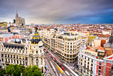 Madrid Spain Cityscape
