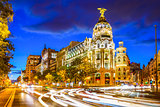 Madrid Spain at Gran Via