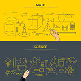 math and science education concept