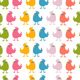 Pattern of cute birds vector