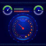 Futuristic car control panel vector