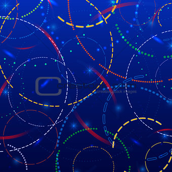 Abstract background with glowing rings vector