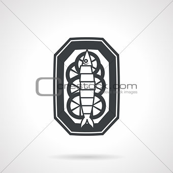 Fish dish black vector icon