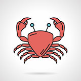 Red crab vector icon