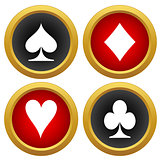 Playing card's icons vector