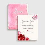 Bridal shower invitation card. Vector illustration.