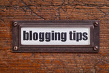 blogging tips label