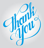 Thank You hand lettering. Handmade calligraphy vector eps10