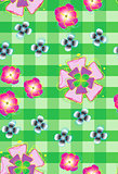 Seamless background with stylized flowers_2