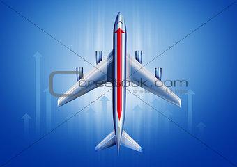 Aircraft with an arrow