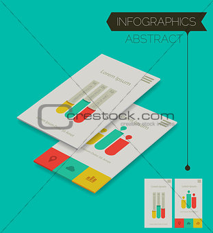 Three dimensional isometric concept with infographics elements