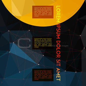 Absract polygonal geometric star space background with place for texts