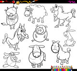 farm animals coloring page