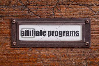 affiliate programs label