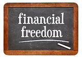 financial freedom on blackboard