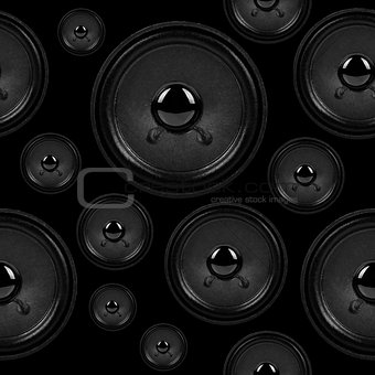 audio speakers, seamless background pattern