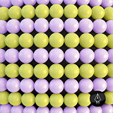 Abstract technology background with balls. Spheric pattern. 3d v