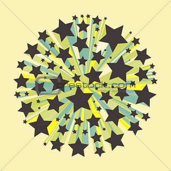 Abstract geometrical 3d multi-colored background.