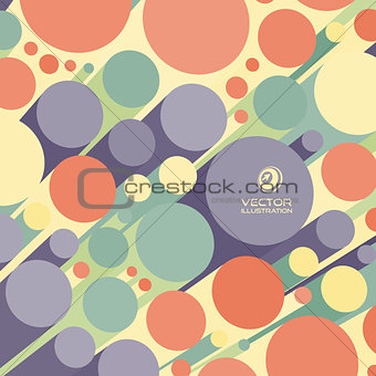 Abstract 3d background with colorful cylinders.