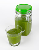 Green Smoothie Glass And Jar