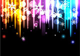 Disco background with snowflakes.