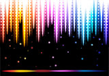 Disco colorful background.