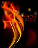 Vector fire flames.