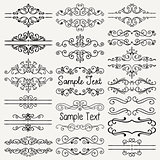 Vector Black Hand Drawn Dividers, Frames, Swirls