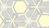 Gray on Yellow Seamless Pattern