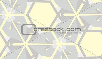 Gray on Yellow Seamless Pattern