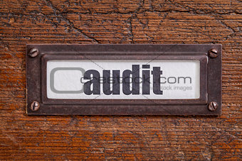 audit file cabinet  label