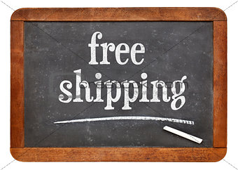 free shipping text on blackboard