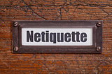 netiqutte (internet etiquette)  label