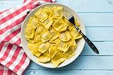 cooked ravioli on plate