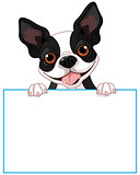 Boston terrier sign