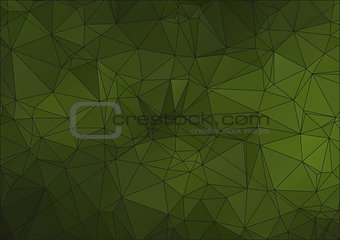 Green abstract polygonal background for web