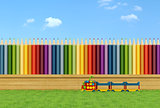 Colorful garden for children