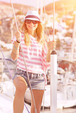 Luxury photoshoot on sailboat