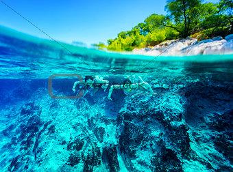 Active diver couple