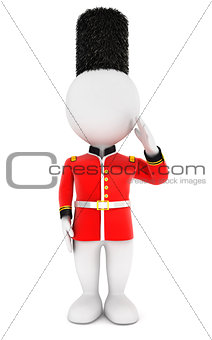 3d white people royal guard
