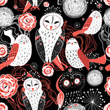graphic pattern owl